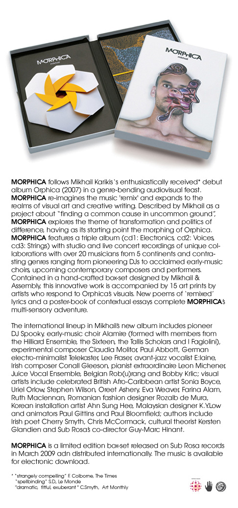 Mikhail Karikis : Morphica (Sub Rosa records 2009)