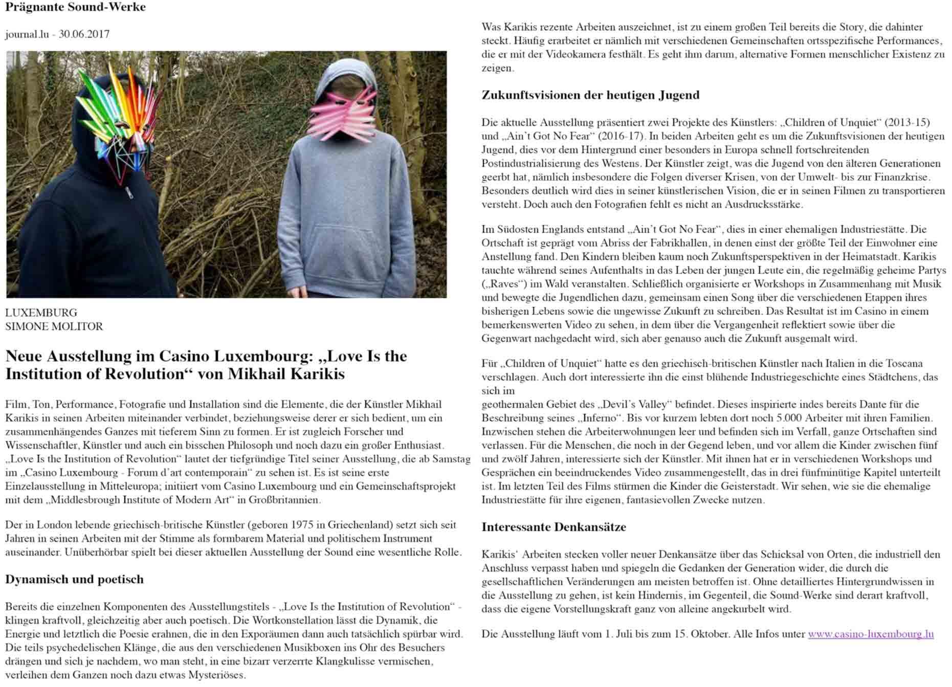 Mikhail-Karikis-Letzebuerger-Journal-Review