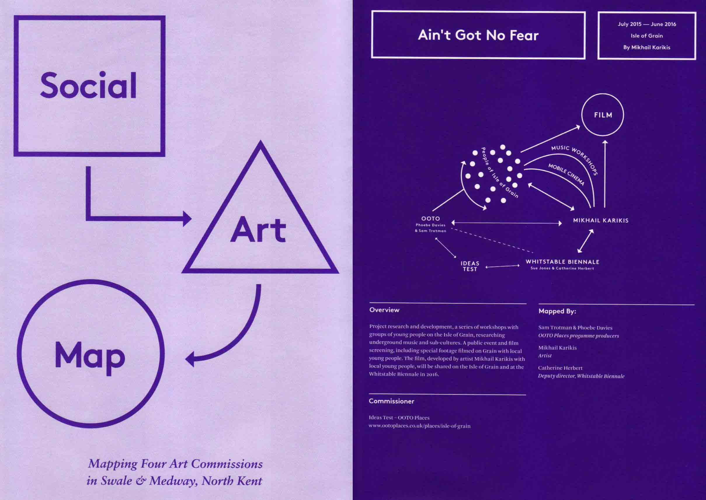 Social Art Map (publication on Ain't Got No Fear)